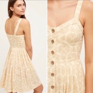 ANTHROPOLOGIE MAEVE CAFE Cotton Button Up Dress